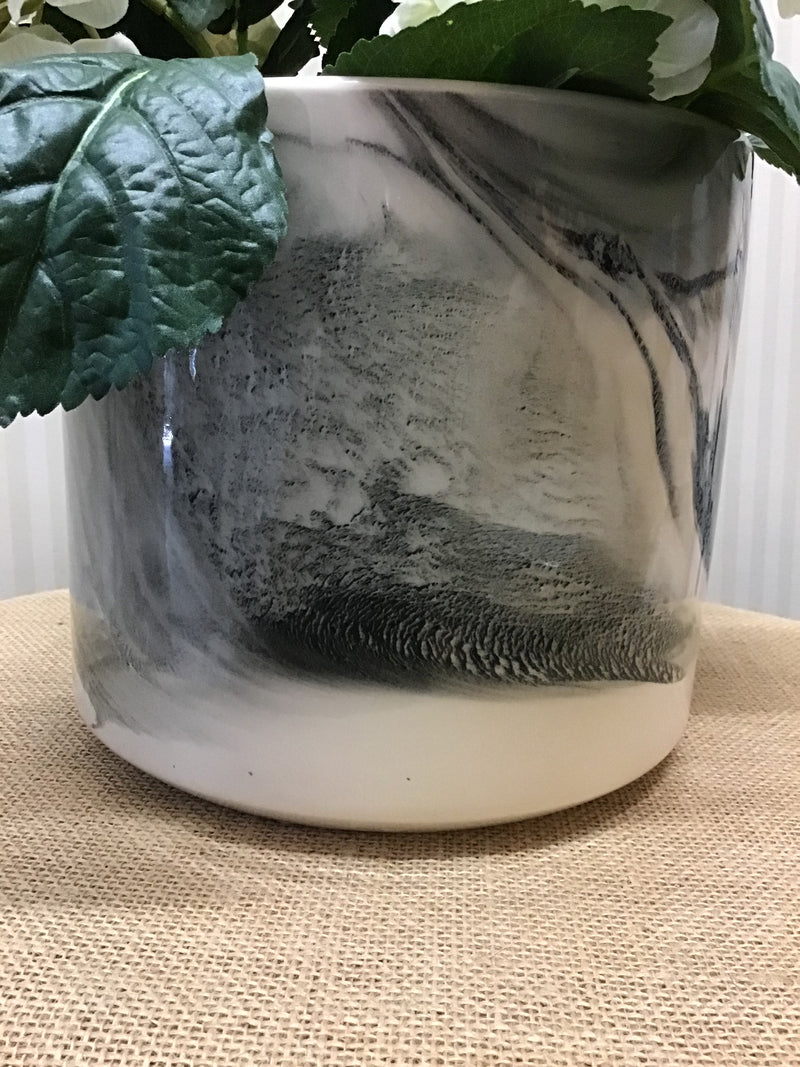 Large Ceramic Marble Pot