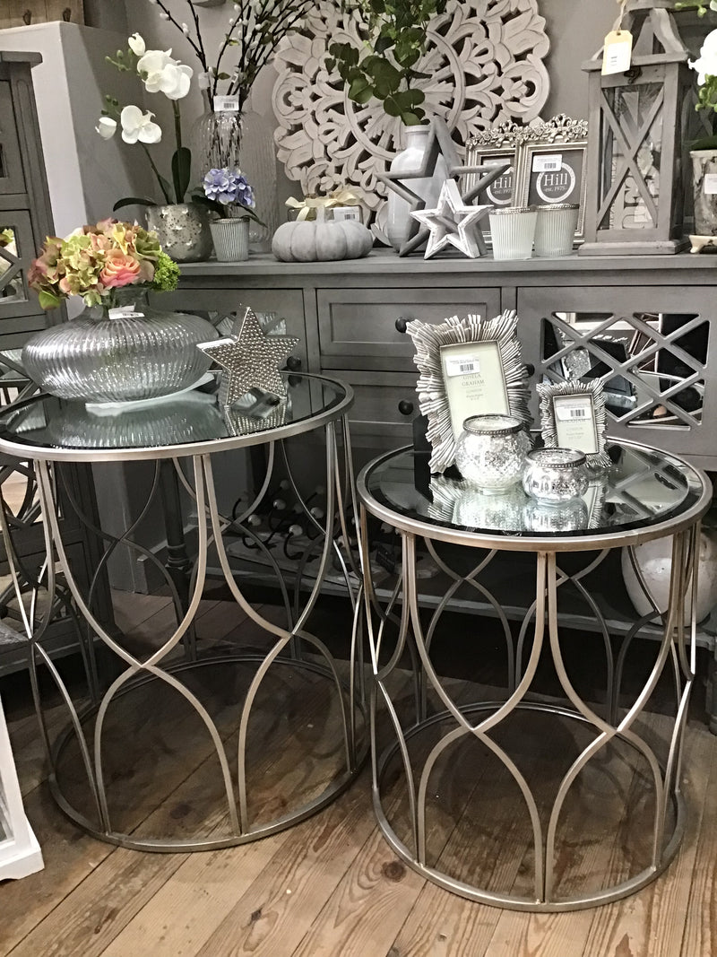 Medium Silver lattice table