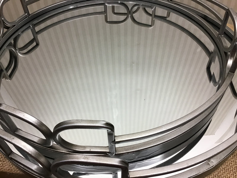 Large mirrored cocktail tray