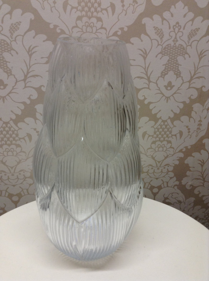 Tall glass artichoke vase