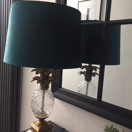 Gold & Teal Pineapple Lamp