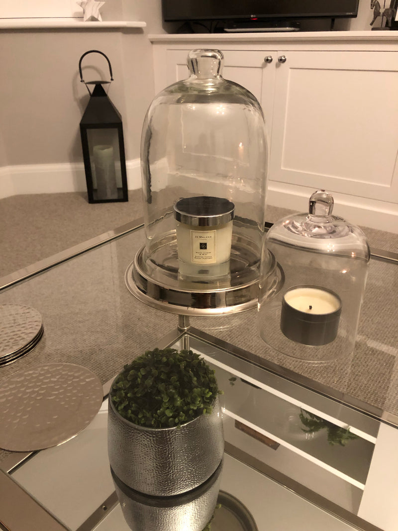 Glass candle cover cloche