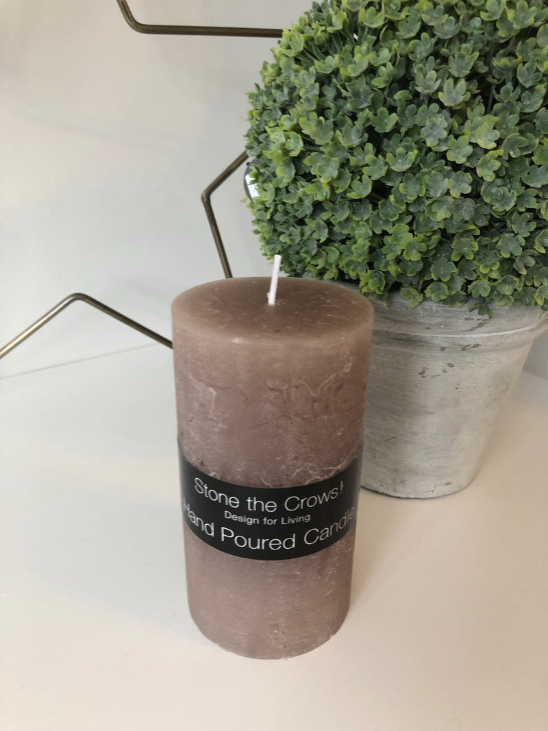 Medium Hand Poured Taupe Candle 13x7