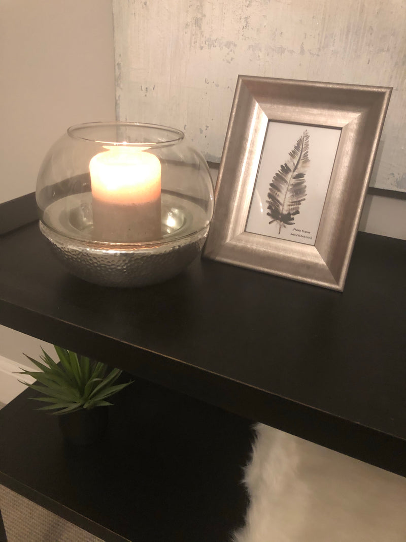 Charcoal hand poured pillar candle