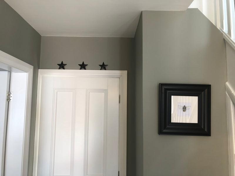 Set of 3 mini barn stars black 9cm