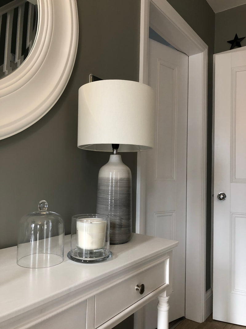 Grey ombré ceramic table lamp