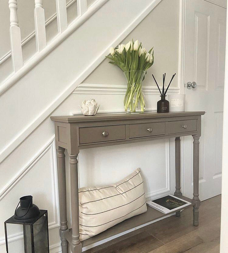 Store seconds slim taupe console A