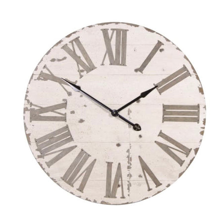 Large Rustic Cream wooden Clock