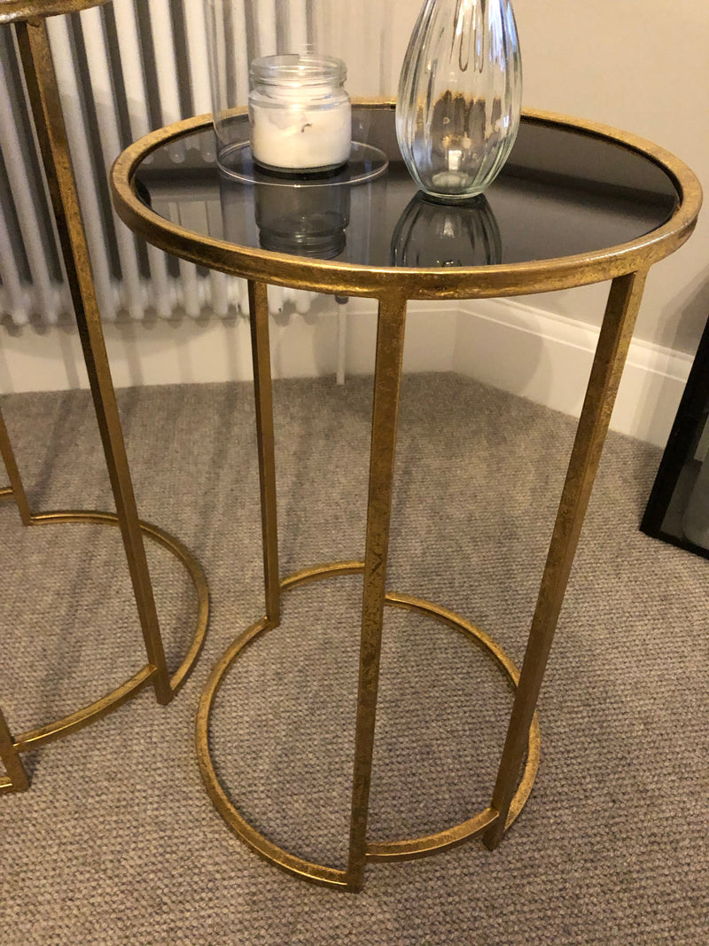 Medium Gold and Black lamp table