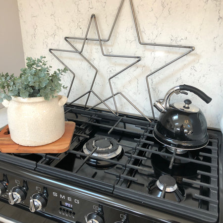 Large Farringdon metal outline star 60cm
