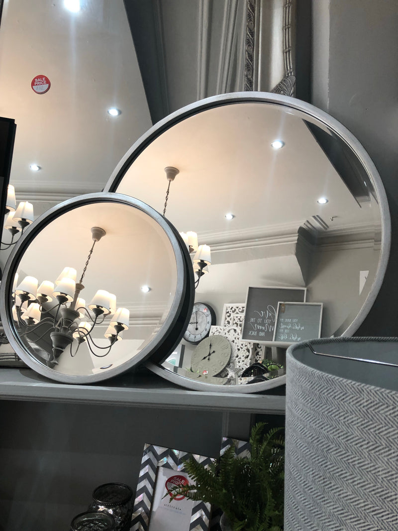 Round Simple Silver mirror 80cm