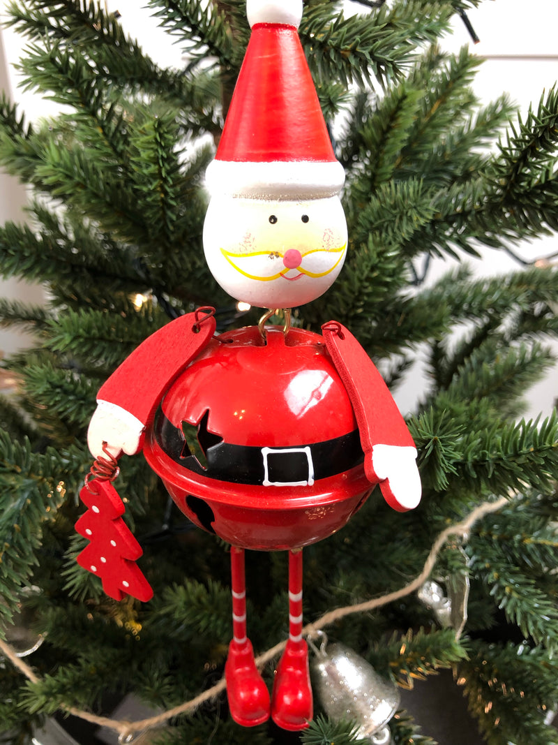 Traditional bell Santa hanging decoration