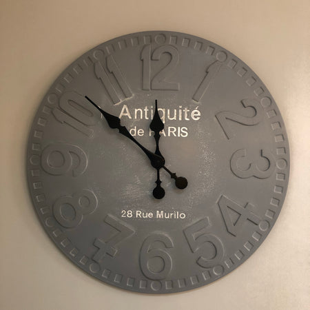 Stone grey wall clock