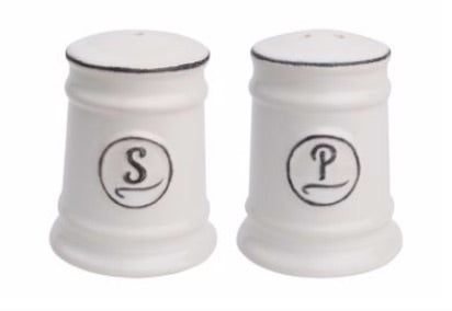 White ceramic salt and pepper shaker