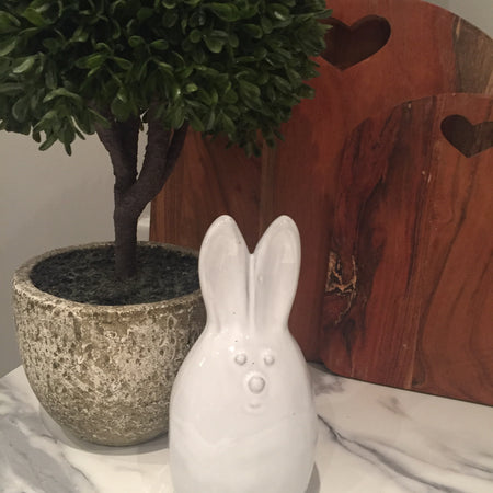 Cute Ceramic bunny Rabbit Ornament large