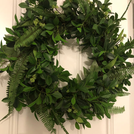 Large mixed foliage full wreath