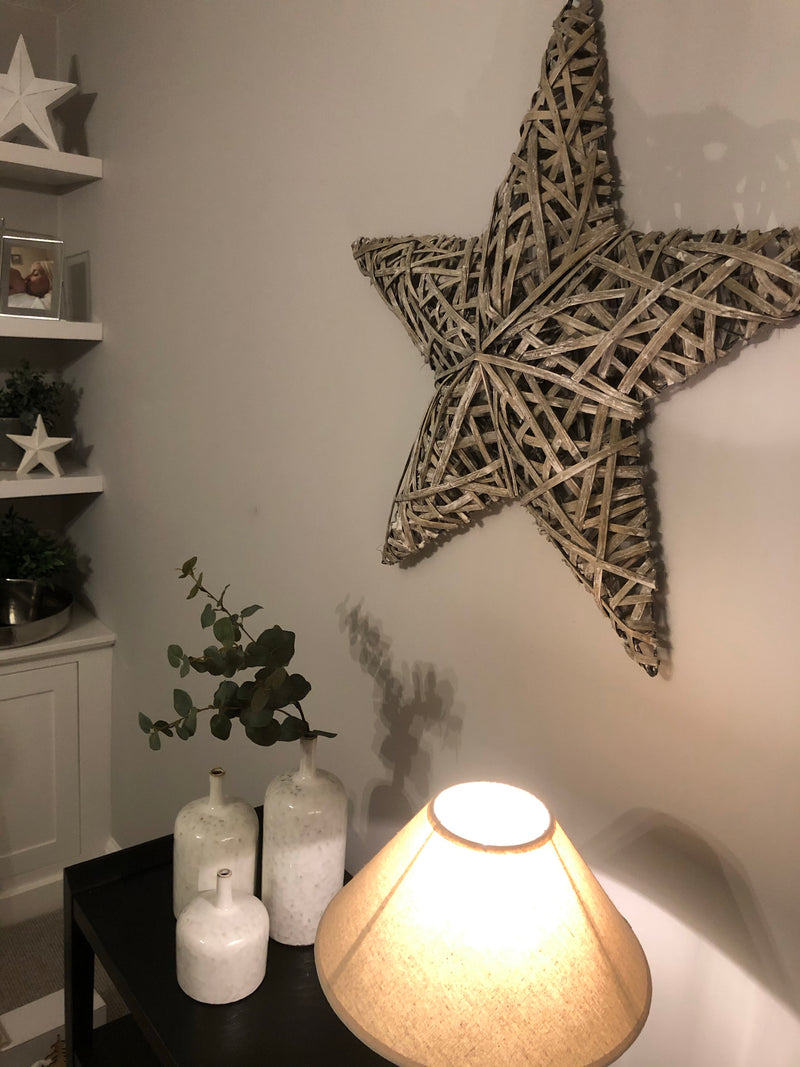 3D Large Woven willow wicker Star