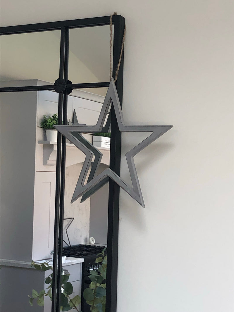 Medium grey cut out star