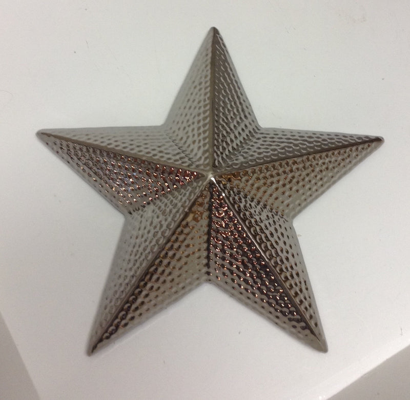 3d ceramic hammered silver star