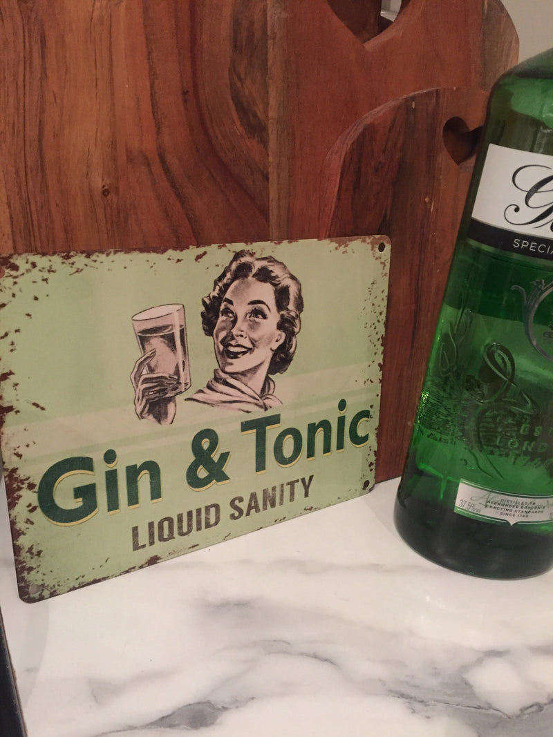 Funny Sign For Gin Lovers