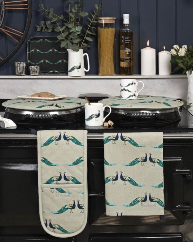 Sophie Allport peacocks tea towel