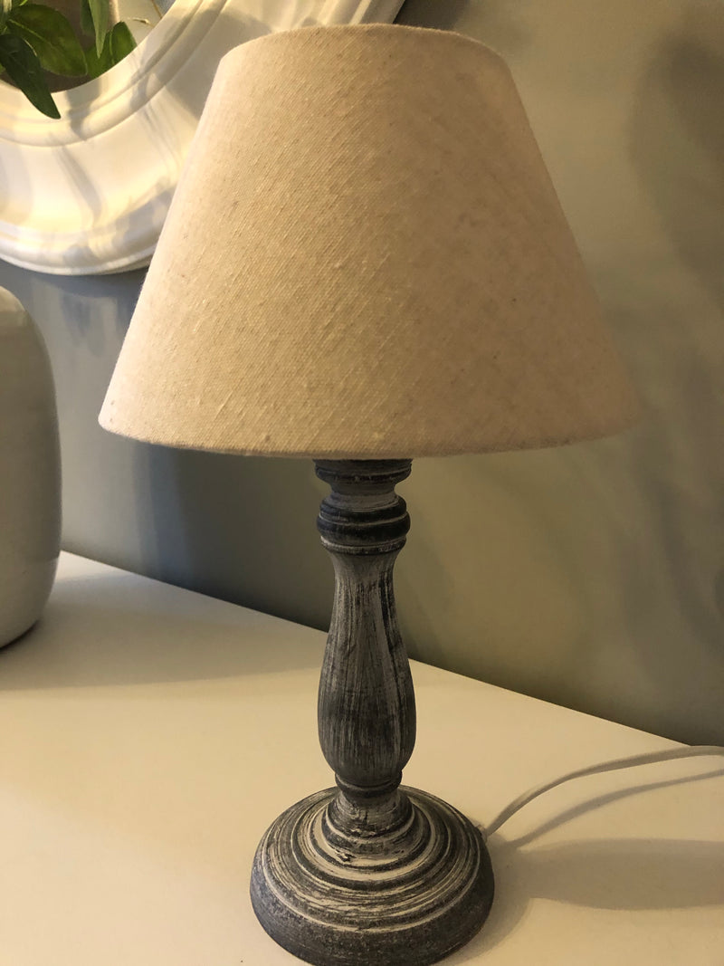 Paros grey small table lamp
