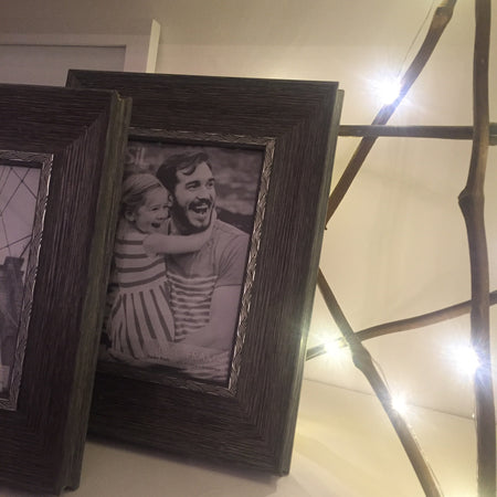5x7 grey wood frame