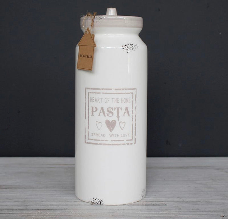 Ceramic pasta container holder jar