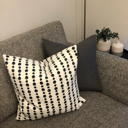Navy Dotty Cushion