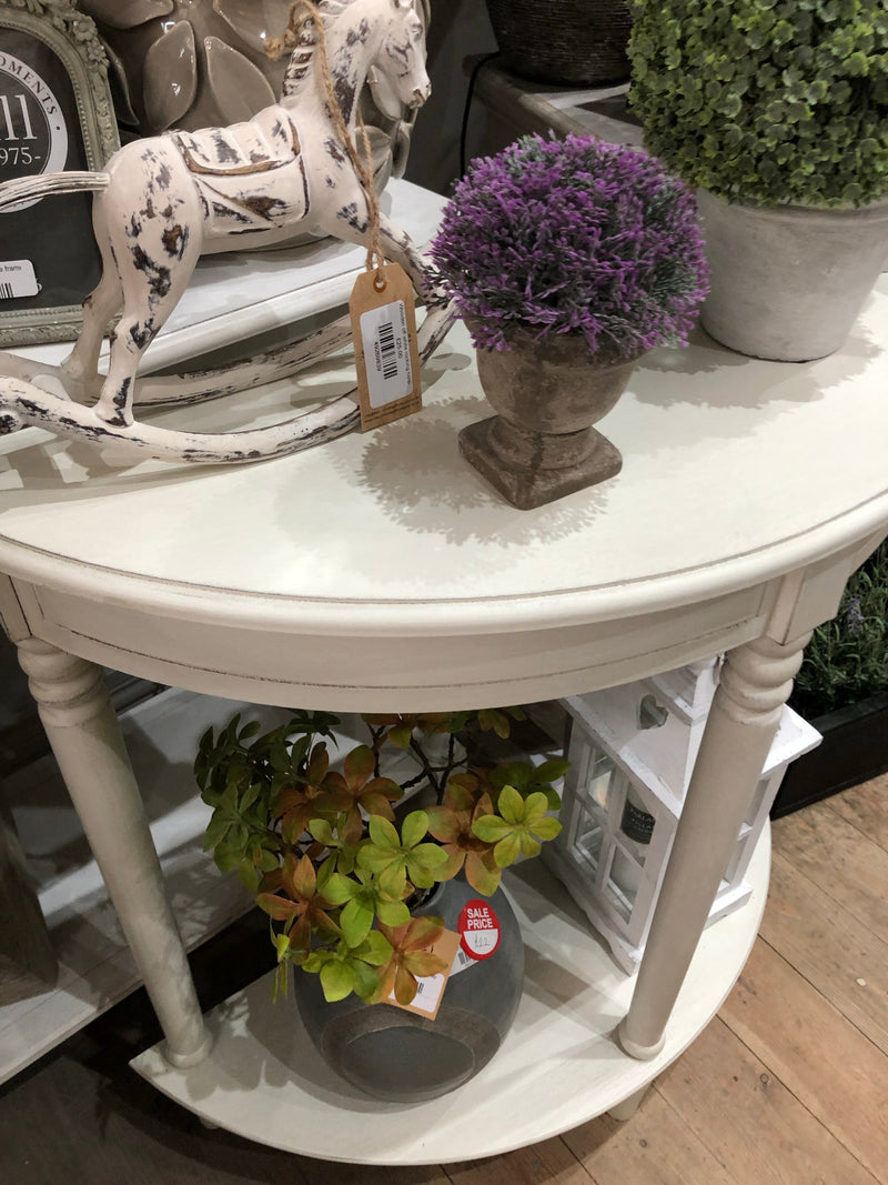 Antique White Half moon table