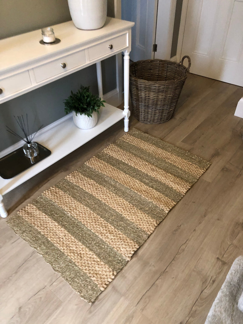 Woven 2 tone seagrass runner rug