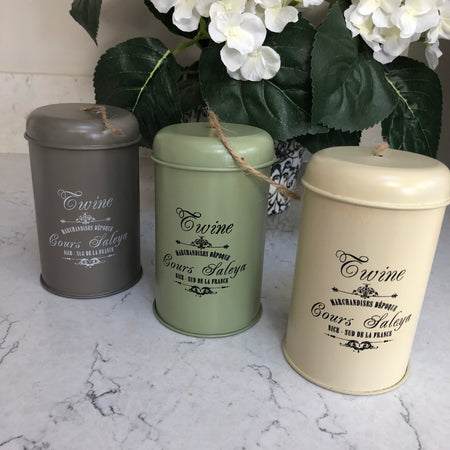 Garden twine in tin grey