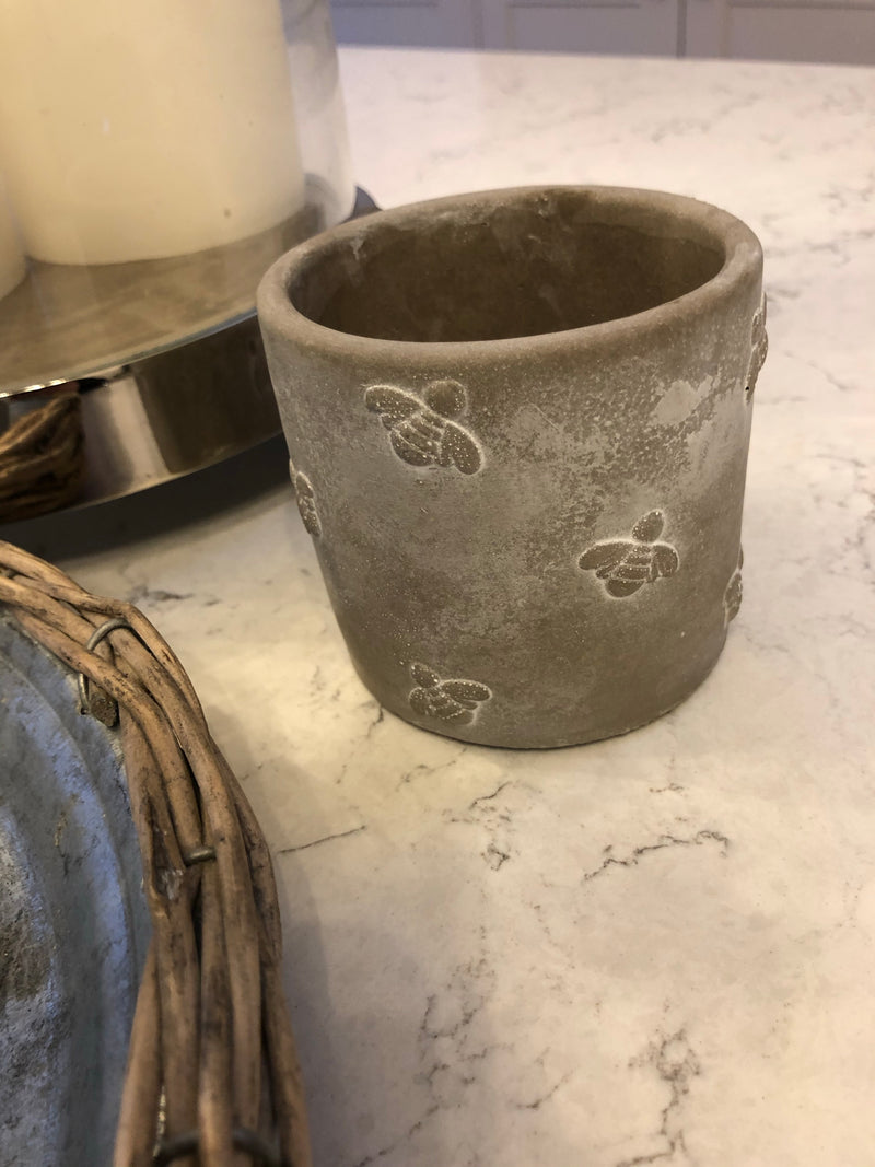 Small grey Queen Bee Pot