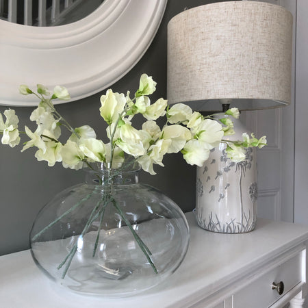 White Sweetpea Bouquet