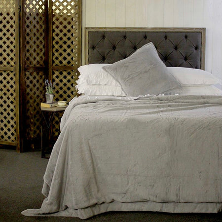 Light grey thick quilt 240cm by 220cm