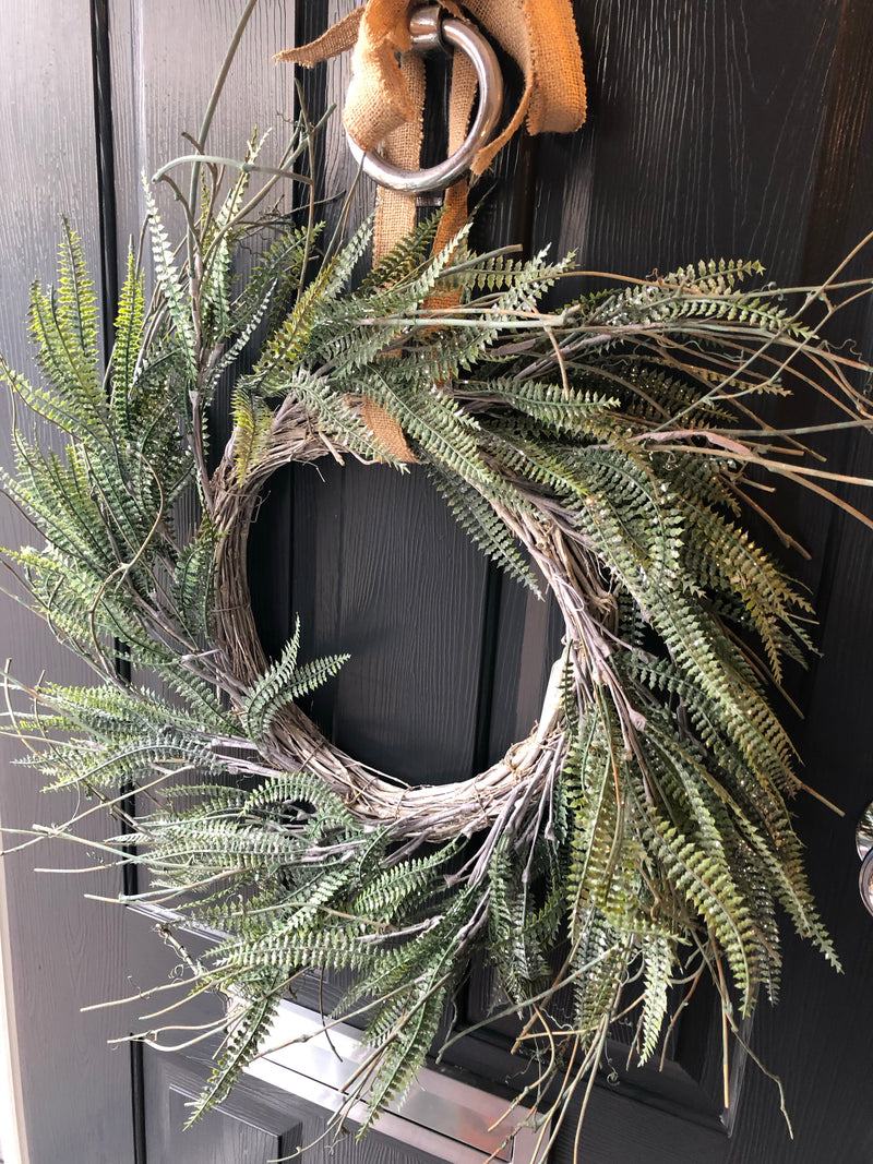 Fern frond and twig large wreath 60cm