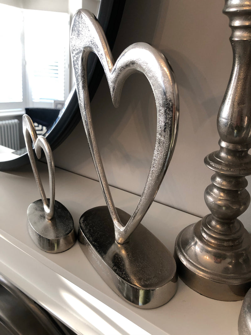 Parlane Small silver heart on stand