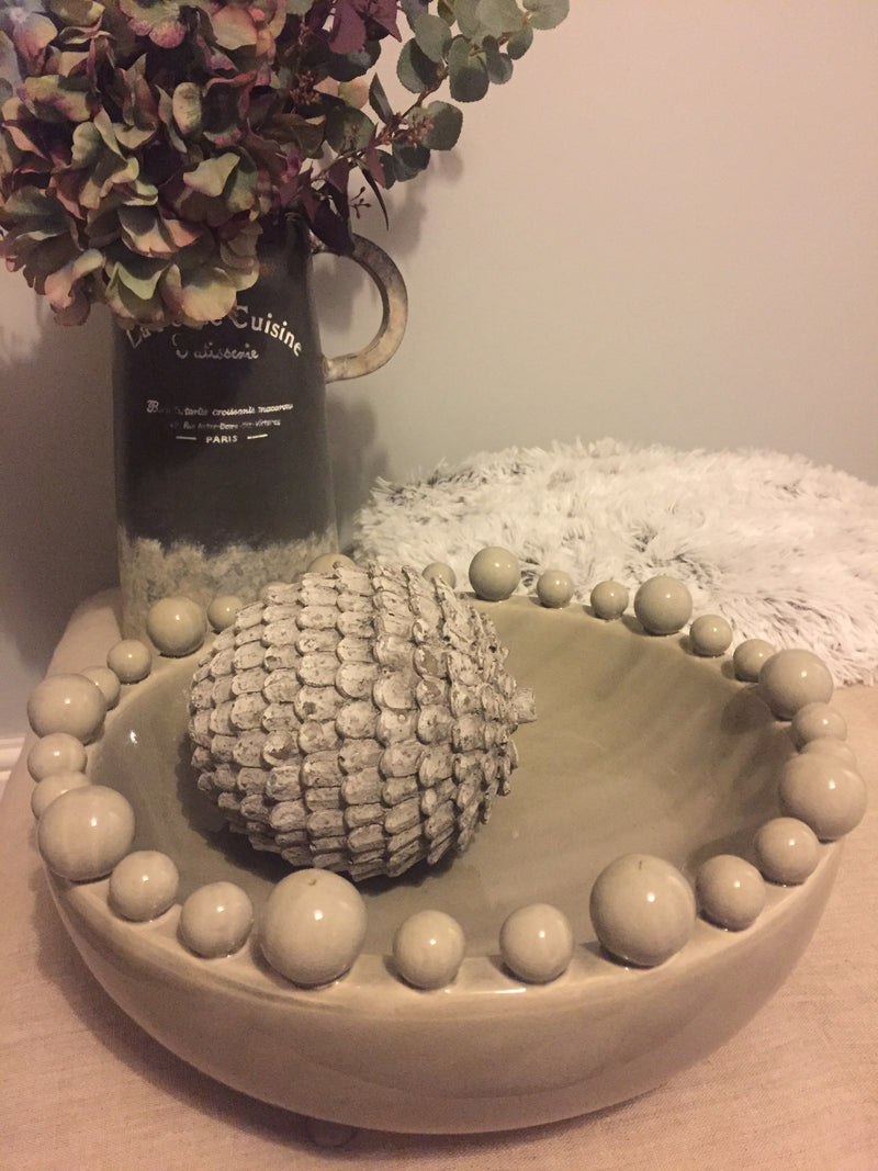 Grey Bobble Bowl