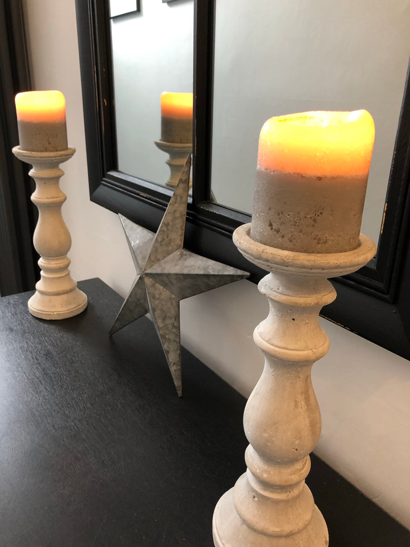 Large birch candle holder