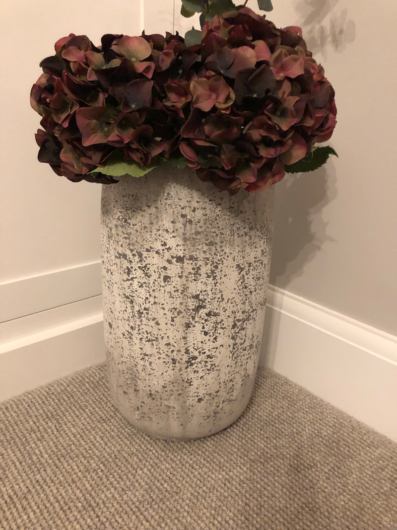 Large tall stone effect vase