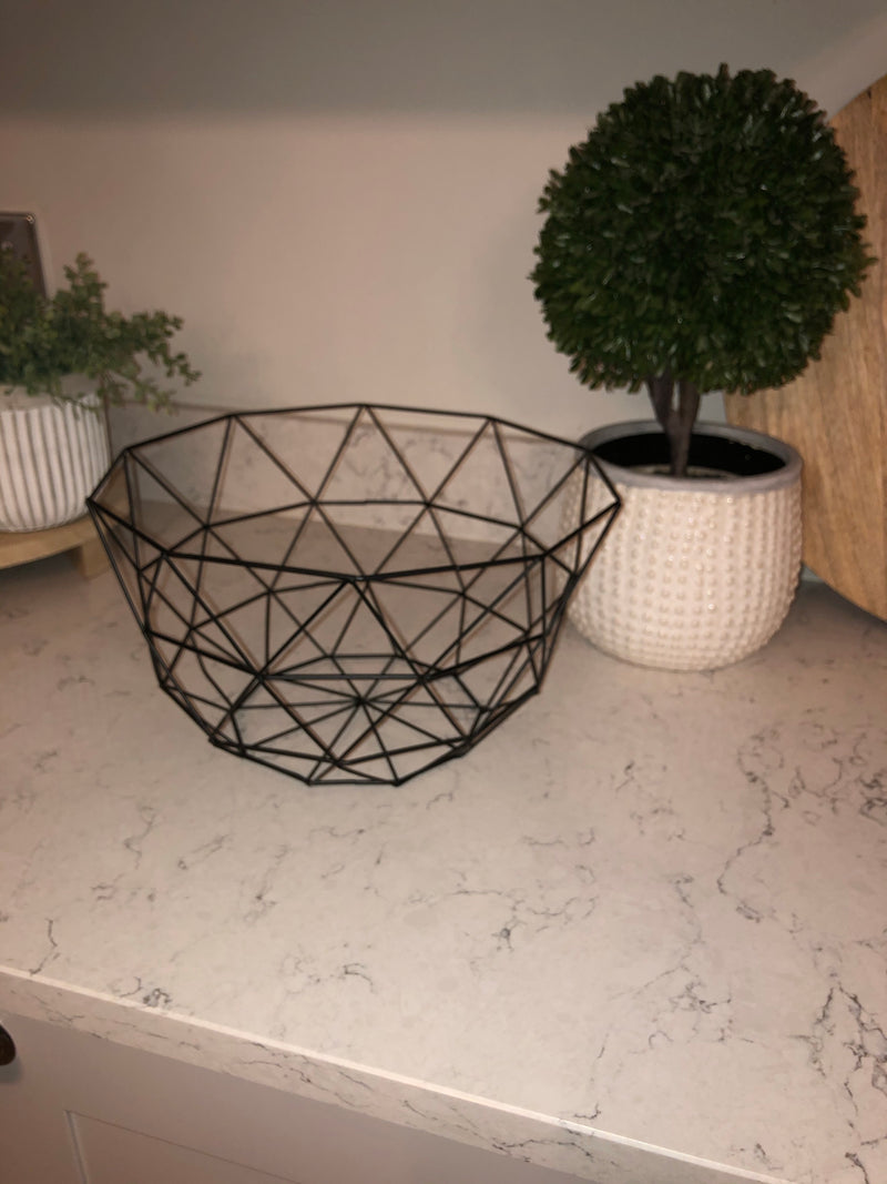 Large Black wire fruit basket