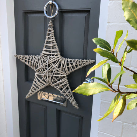 Large Light Flat Willow Star 60cm