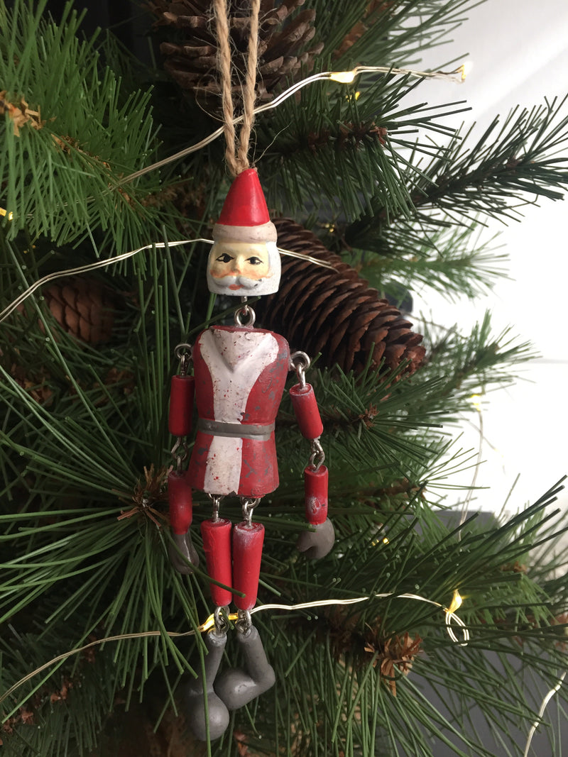Jointed Hanging Santa