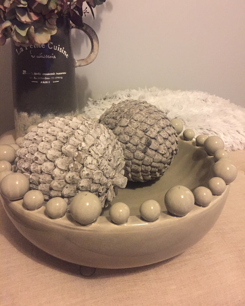 Large Grey Artichoke Ornament