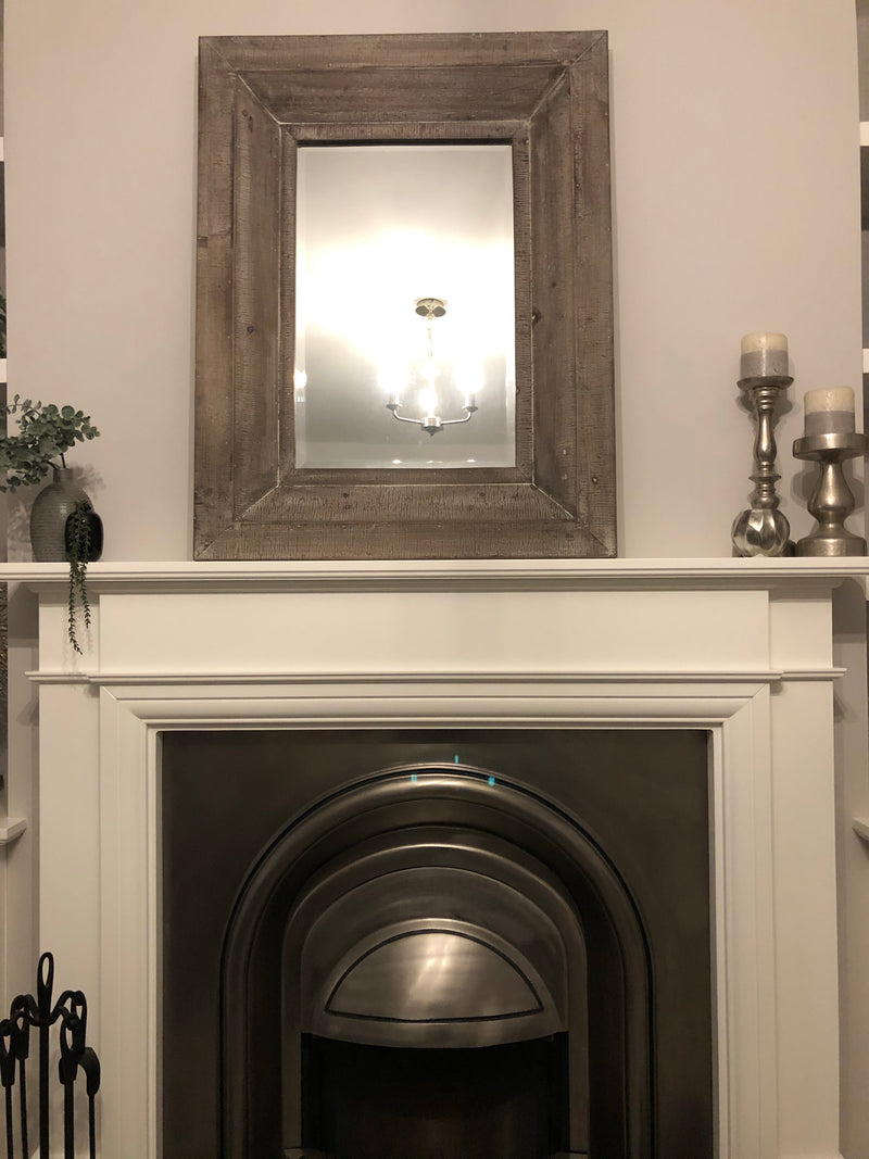 Reclaimed wood chunky mirror 90x70
