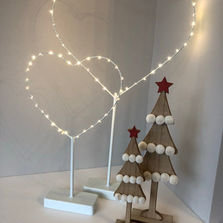 Medium standing LED heart