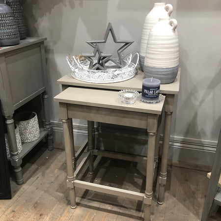 Grey taupe Nest of 2 Tables