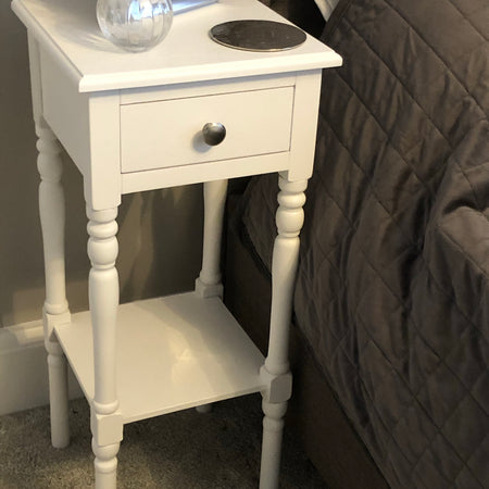 Set of 2 White Bedside tables