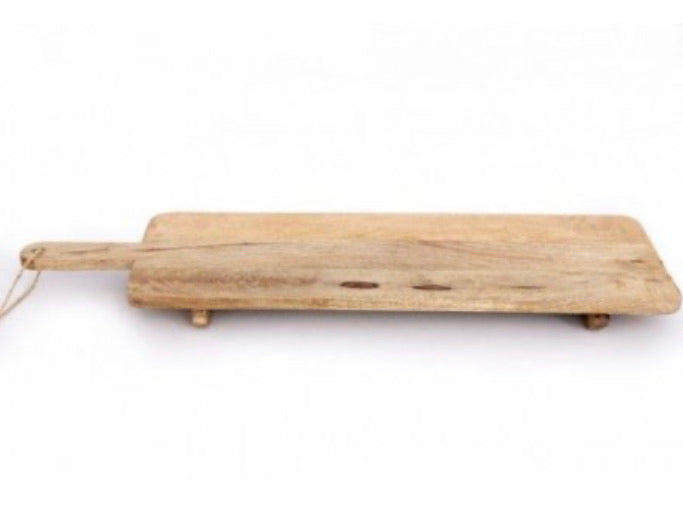 Distressed natural wood serving board chopping board 100cm