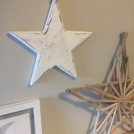 Large white solid hanging star